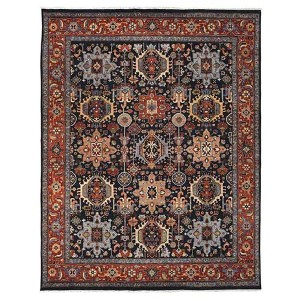Antiquity Cirta Design Navy and Rust Rectangular: 2 Ft. x 3 Ft. Rug