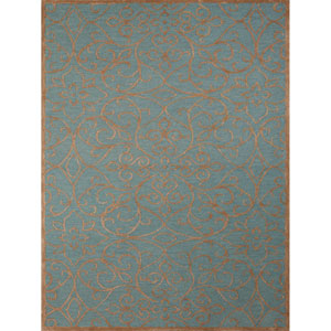 Glow Forest Blue Rectangular: 2 Ft x 3 Ft Rug