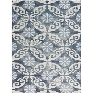 Kanoka Water Blue Rectangular: 2 Ft x 3 Ft Rug