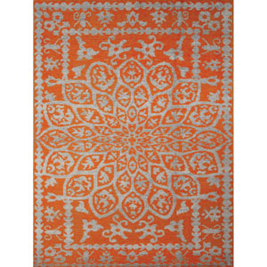 Kimaya Orange Rectangular: 2 Ft x 3 Ft Rug