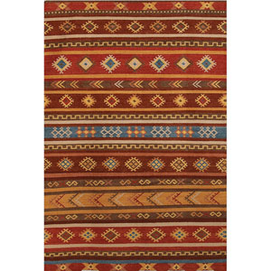 Makamani Design Burned Orange Rectangular: 2 Ft. x 3 Ft. Rug