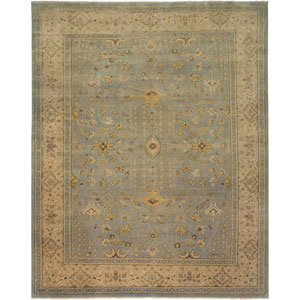 Anatolia Light Blue Rectangle: 6 Ft. x 9 Rug