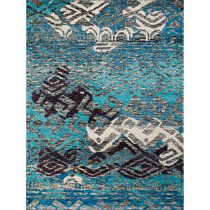 Silkshine Blue Rectangular: 2 Ft x 3 Ft Rug