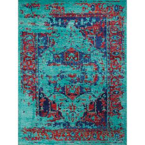 Silkshine Turquoise Rectangular: 2 Ft x 3 Ft Rug