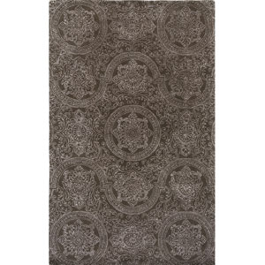 Serendipity Wilshire Design Smoke Rectangular: 2 Ft. x 3 Ft. Rug