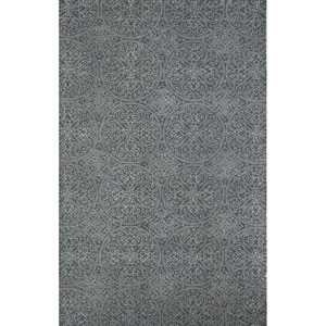 Serendipity Ghent Design Steel Gray Rectangular: 7.5 Ft. x 9.5 Ft. Rug