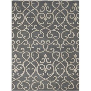 Studio Moore Design Stone Blue Rectangular: 2 Ft. x 3 Ft. Rug