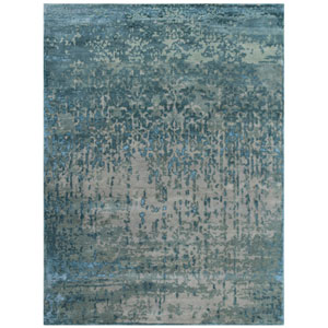 Synergy Gray and Blue Rectangular: 2 Ft x 3 Ft Rug