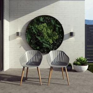 Amazonia Gray Chair Set, 2-Piece