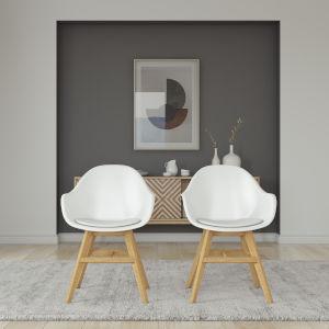 Amazonia White 23-Inch Width Chair Set, 2-Piece
