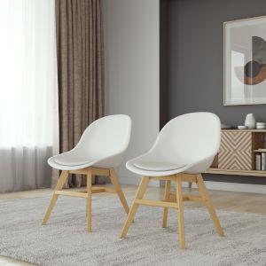 Amazonia White Chair Set, 2-Piece