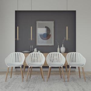 Amazonia White 20-Inch Width Chair Set, 4-Piece