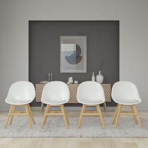 Amazonia White 21-Inch Width Chair Set, 4-Piece