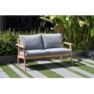 Amazonia Teak Patio Two-Seater Sofa