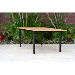 Amazonia Teak Rectangular Patio Garden Dining Table