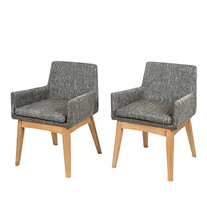 Midtown Concept Ruby 2 Piece Grey Armchair Set