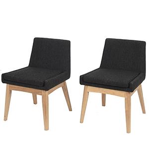 Midtown Concept Ruby 2 Piece Black Chair Set
