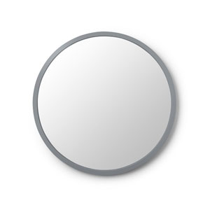 Hub 24 In. Grey Round Wall Mirror