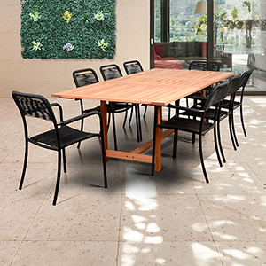 Amazonia 9 Piece Rectangular Patio Dining Set