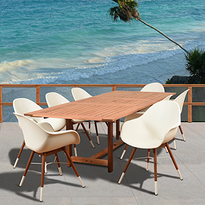 Amazonia Charlotte 9 Piece Rectangular Patio Dining Set