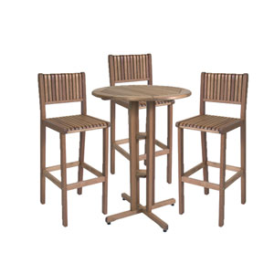Ibiza Eucalyptus 4 Piece Patio Bar Set