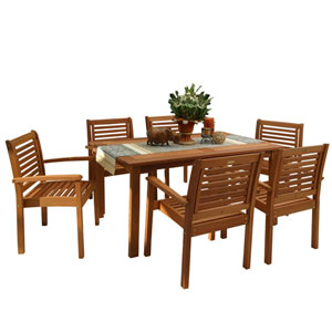 Milano Rectangular Seven Piece Set