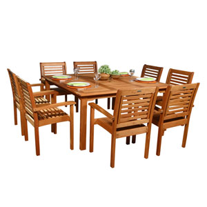 Milano Square Nine Piece Set