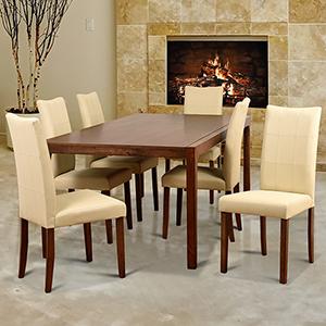 Midtown Concept Tatiana 7 Piece Cream Rectangular  Dining Set