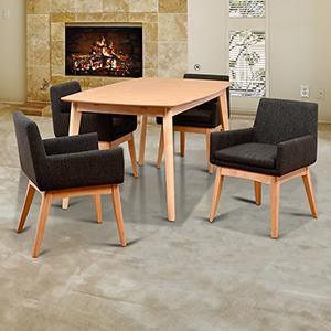 Midtown Concept Ruby 5 Piece Liqurice Rectangular Dining Set