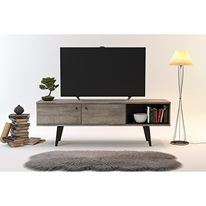 Valencia Mid-Century 2-Cabinet TV Stand