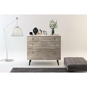 Valencia Mid-Century 3-Drawer Dresser