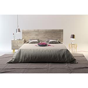 Valencia Mid-Century Queen Bed with Headboard