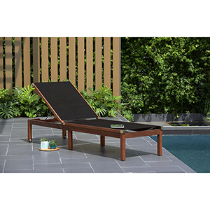 Amazonia Zuiderdam Patio Lounger, Black