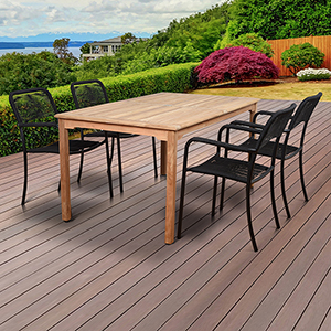 Amazonia 5 Piece Teak Rectangular Patio Dining Set