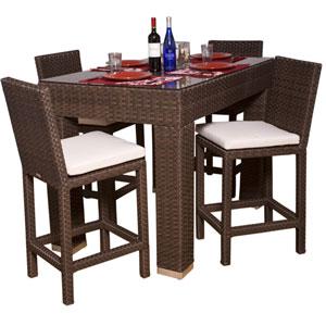 Monza Rectangular Five-Piece Bar Set