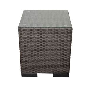 Atlantic Bellagio Wicker Grey Patio Side Table