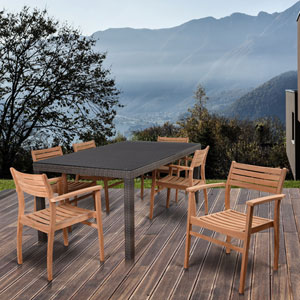 Atlantic Lina 7 Piece Rectangular Patio Dining Set