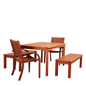 Amazonia Richfield 5 Piece Eucalyptus Rectangular Dining Set