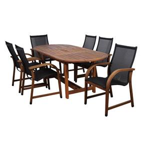 Bahamas Seven-Piece Eucalyptus Oval Dining Set