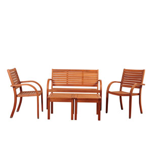 Amazonia Arizona 5 Piece Eucalyptus Seating Set