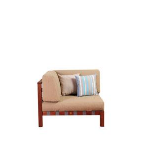 Amazonia Derbyshire Eucalyptus Sectional Corner Piece with Khaki Cushions By Jamie Durie