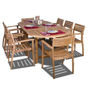 Coventry Nine-Piece Teak Dining Set