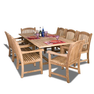 Newcastle Nine-Piece Teak Dining Set