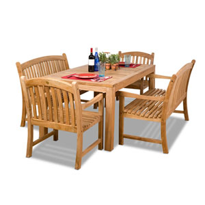 Geneve Five-Piece Teak Dining Set