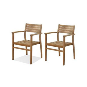 Coventry Teak Stacking Chairs, Set of Two