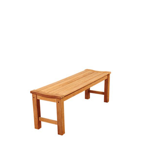 Amazonia Rinjani 51-Inch Teak Patio Backless Bench