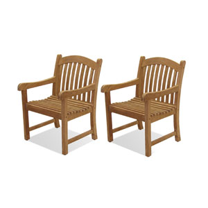 Newcastle Teak Armchairs, Set of Two