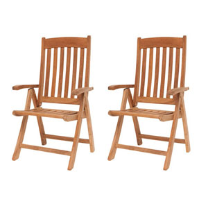 Belfast Teak Position Chairs, Set of Two
