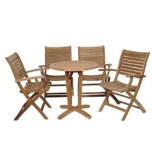 Aruba Five-Piece Teak Dining Set