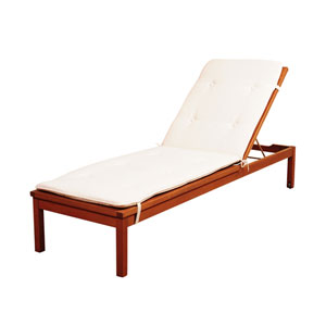Amazonia Washburn Wheel Lounger with  White Cushions